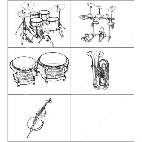 Free Download Music Instruments Brushes