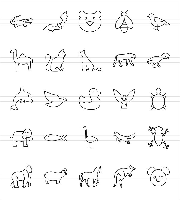 Animals & Insects Line Icons