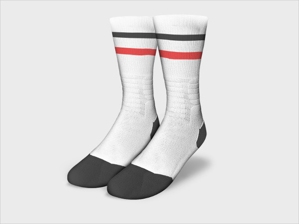 Athletic Sock Mockup Free
