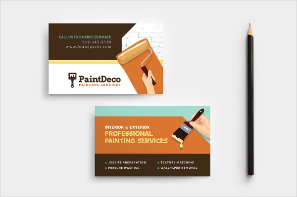 Attractive & Decorator Business Card