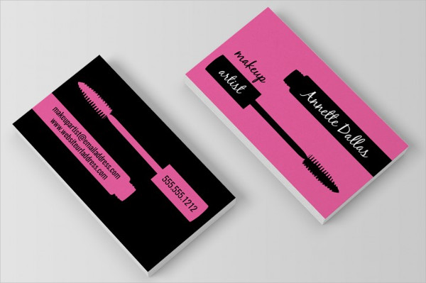 Professional Makeup Artist Business Cards