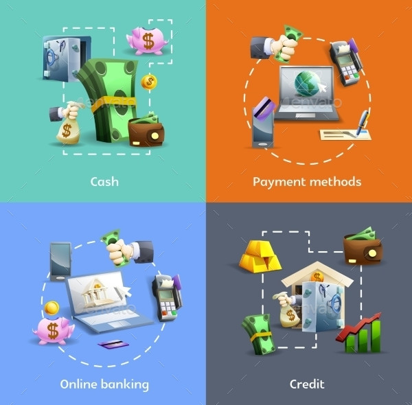 Banking And Payment Icons Set