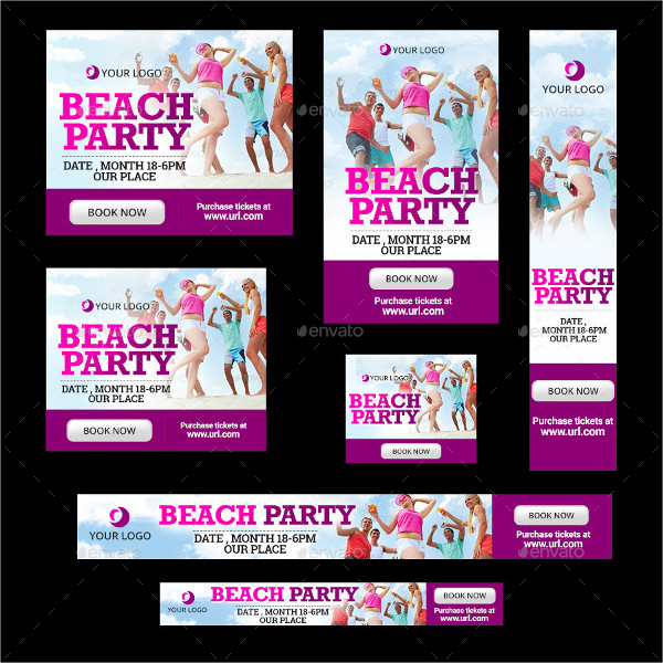 Beach Party Banner Templates