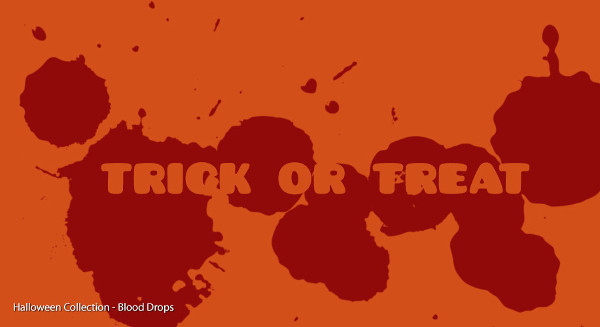 Blood Drops Brushesfrom Halloween Collection