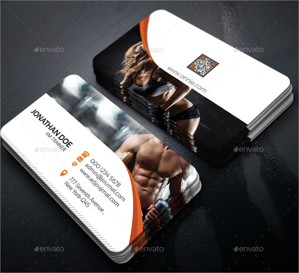 Body Building Business Card Template