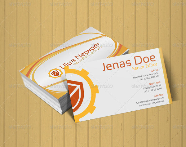 Branding Auditor Business Card Template