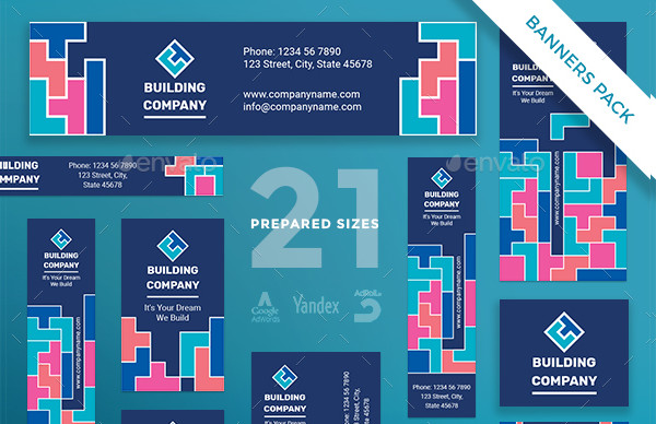 Building Company Banners Design Pack