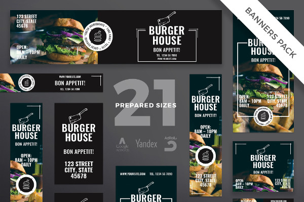 Burger House Banner Templates Pack