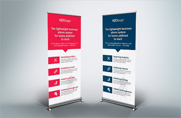 Business Roll up Banner Flat