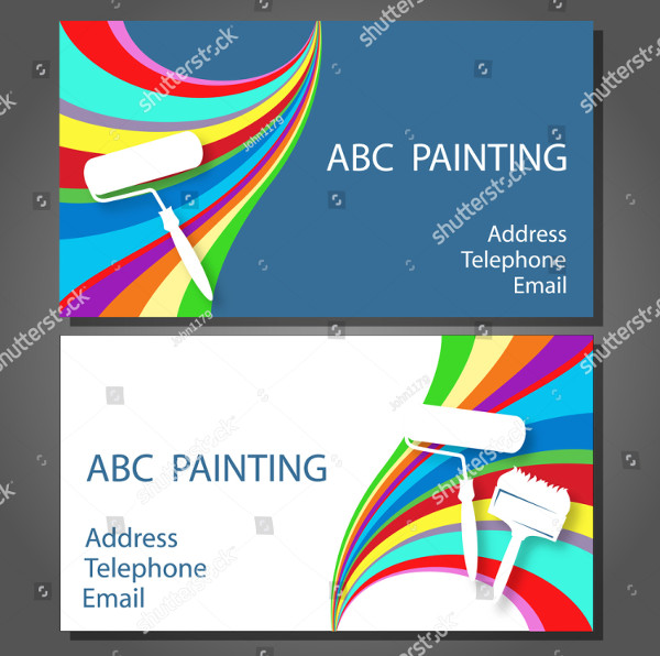 Cool Painting Business Cards Design