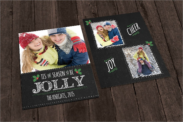 Chalkboard Christmas Photo Card Template