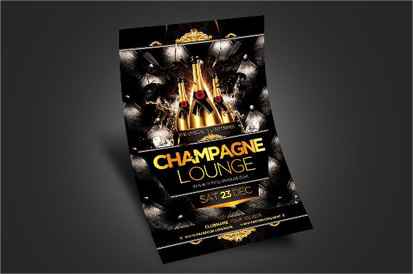 Champagne Celebration Flyer Template