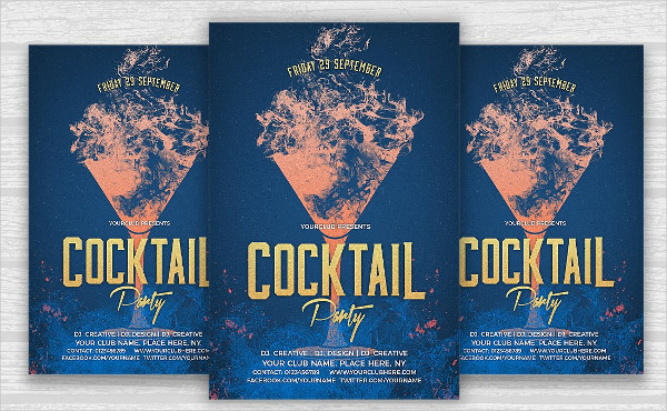 PSD Cocktail Party Flyer Design