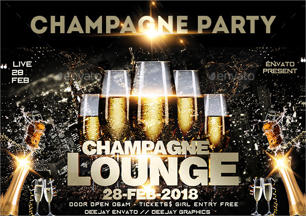 Champagne Diamond Flyer Template