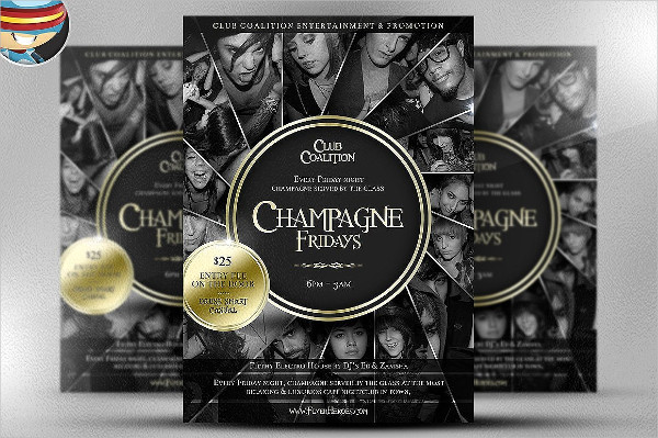 Champagne Fridays Flyer Template
