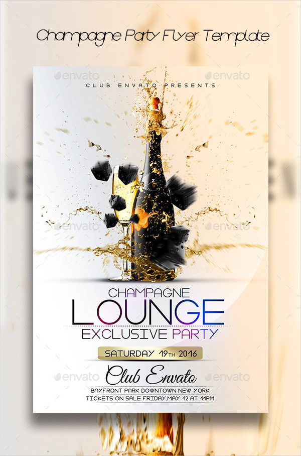 Best Champagne Party Flyer Template