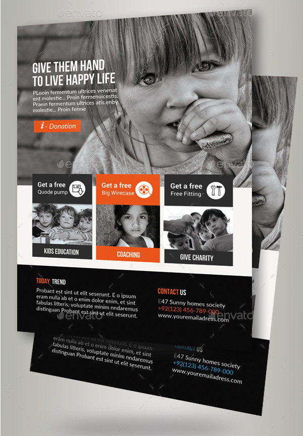 Charity Donation Event Flyer Template