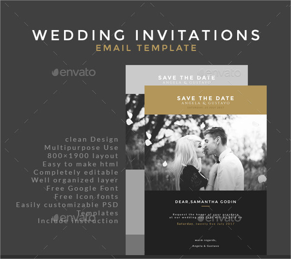Classic Email Invitations Template