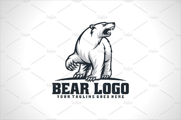 Clean Bear Logo Design