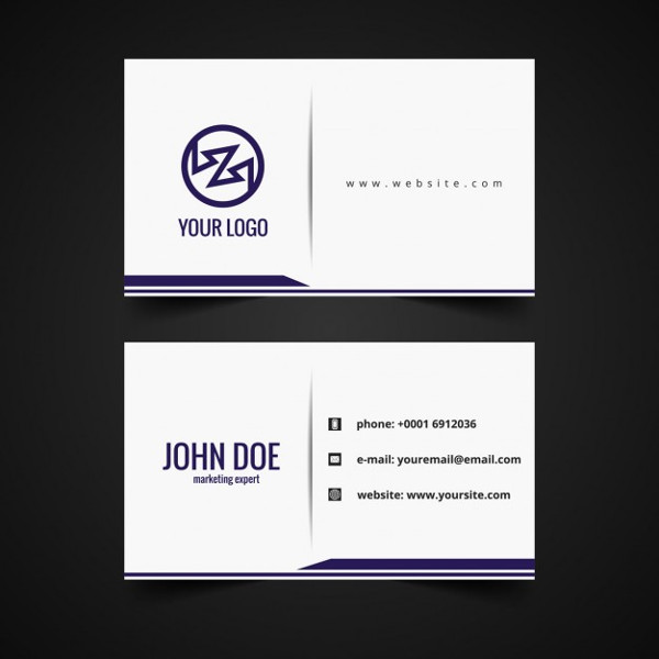 Clean Business Card Design Free Download