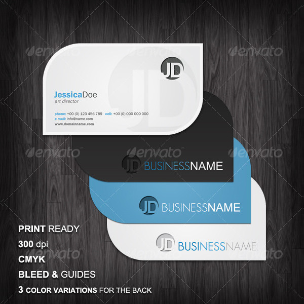 Clean Business Cards Design PSD