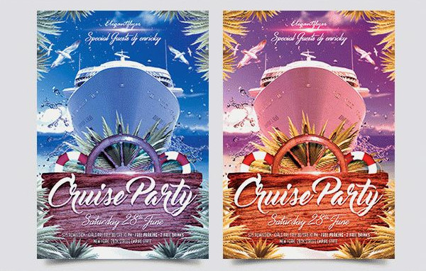Clean Cruise Party Free PSD Flyer Template