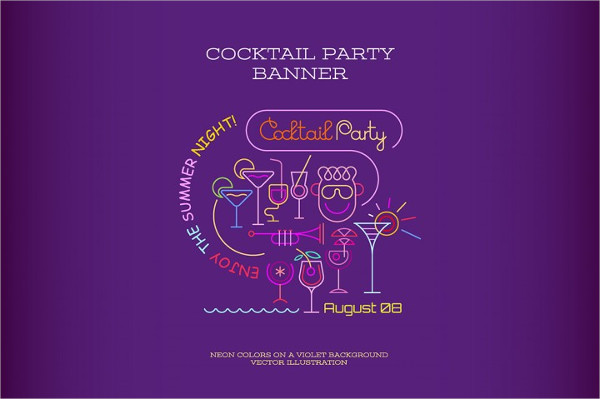 Cocktail Party Banner Design
