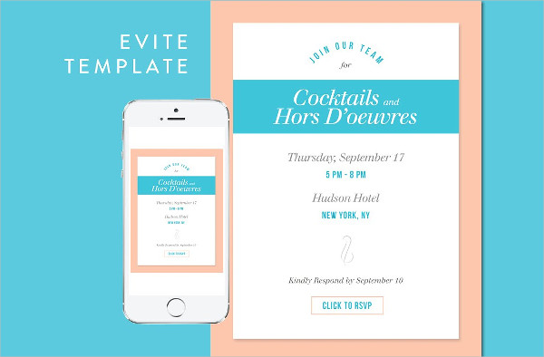 Cocktail Party Email Invitation Template