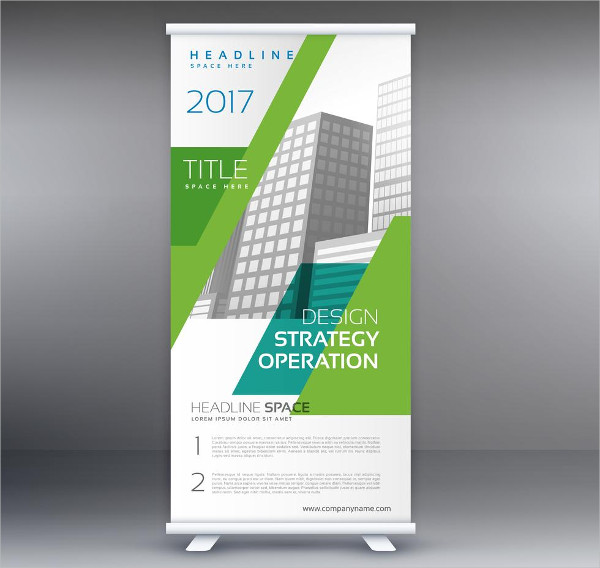 Company Presentation Banner In Roll Up Style Free