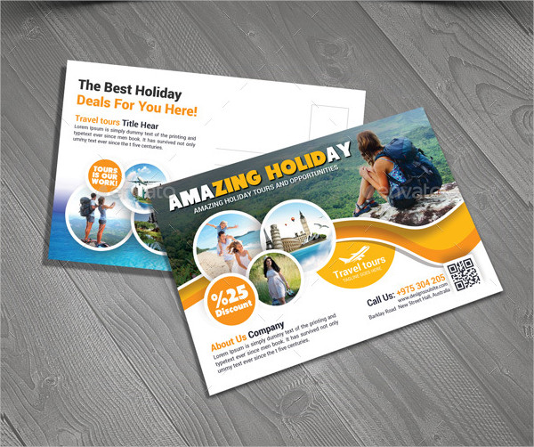 Corporate Travel Postcard Template