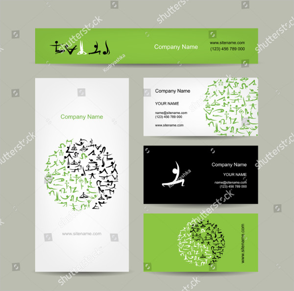 Corporate Yoga Business Card Template