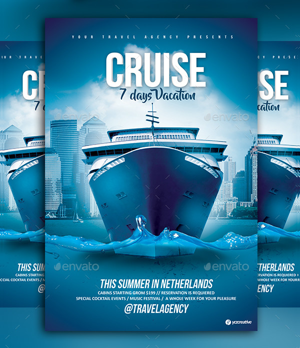 Cruise Vacation Flyer Template
