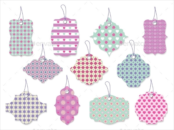 Cute Floral Tags and Labels