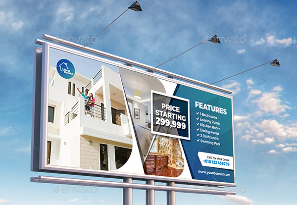 Cute Real Estate Billboard Template