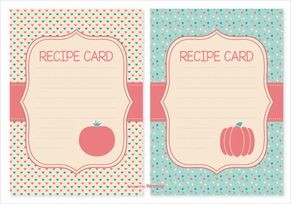 Cute Recipe Cards Set Free Download