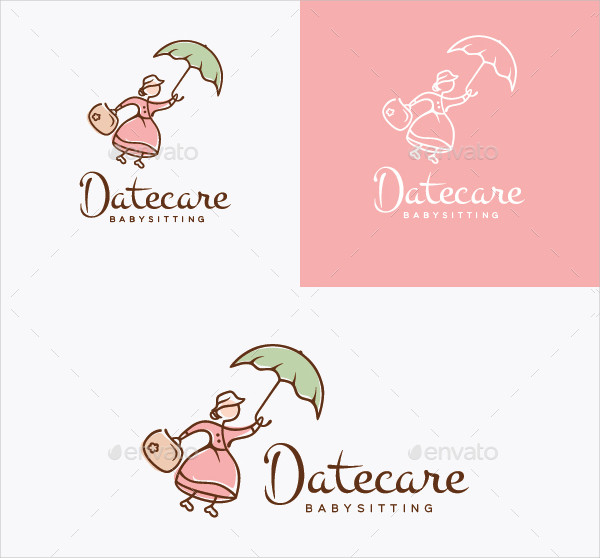 Daycare Babysitting Logo