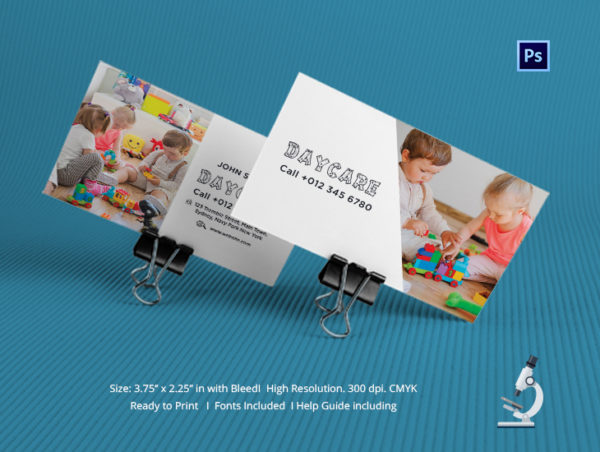 Printable Daycare Business Card Template
