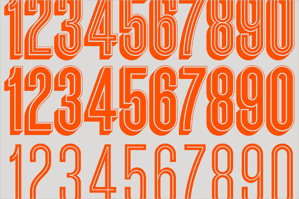 Different Types of Fonts for Numbers