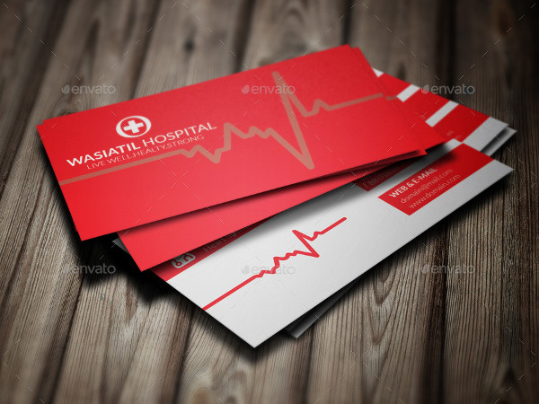 Unique Doctor PSD Business Card Template