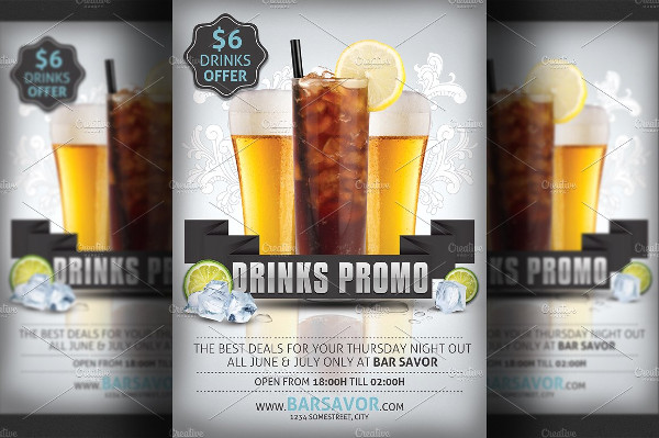 Drinks Promo Flyer Template