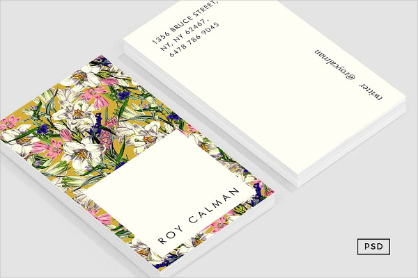 Earthy Floral Business Cards Template
