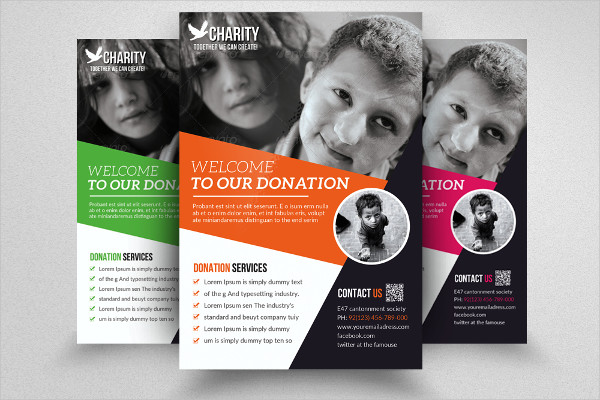 Sample Charity & Donation Flyer Templates