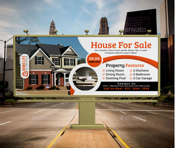 Editable Real Estate Billboard Designs