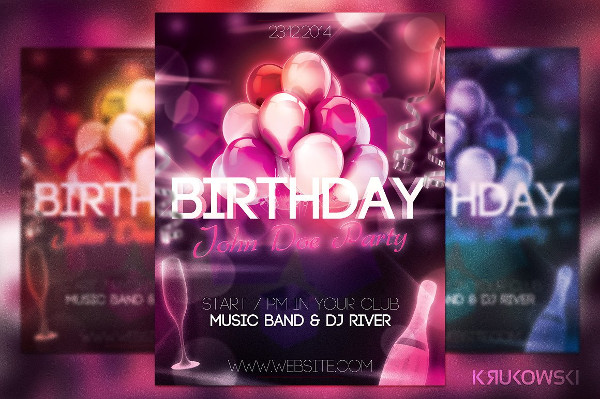 Elegant Birthday Flyer Design