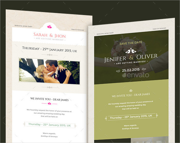 Engagement Email Invitation Templates