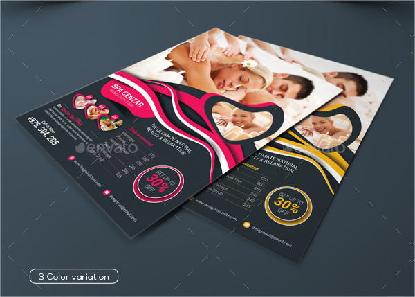 Professional Spa PSD Flyer Template