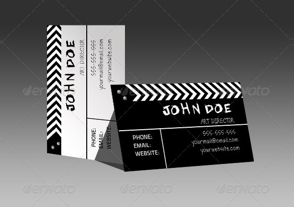 Film Director Business Card Template