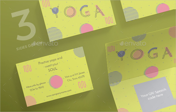 Best Yoga Teacher Business Card