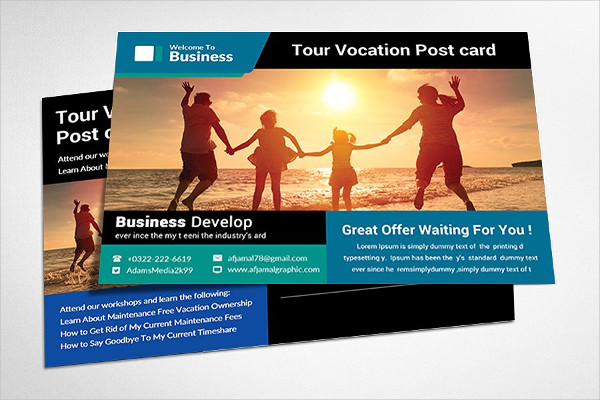 Cute Travel Postcard Template