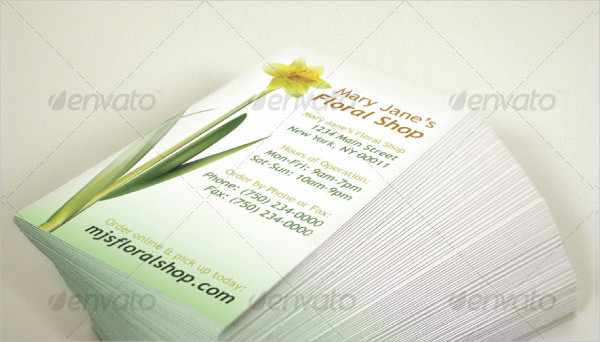 Floral Shop Business Card Template
